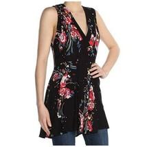 Free People Blouse Back Basics Floral Print Top Sleeveless Tunic Womens ... - $24.50