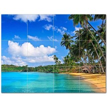 Beach Ocean Ceramic Tile Mural Kitchen Backsplash Bathroom Shower BAZ400032 - $120.00 - $1,440.00