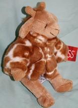 """Russ GISELLA GIRAFFE 7"""" Soft Plush Toy Stuffed Animal Brown White Jacket... - $15.45"""