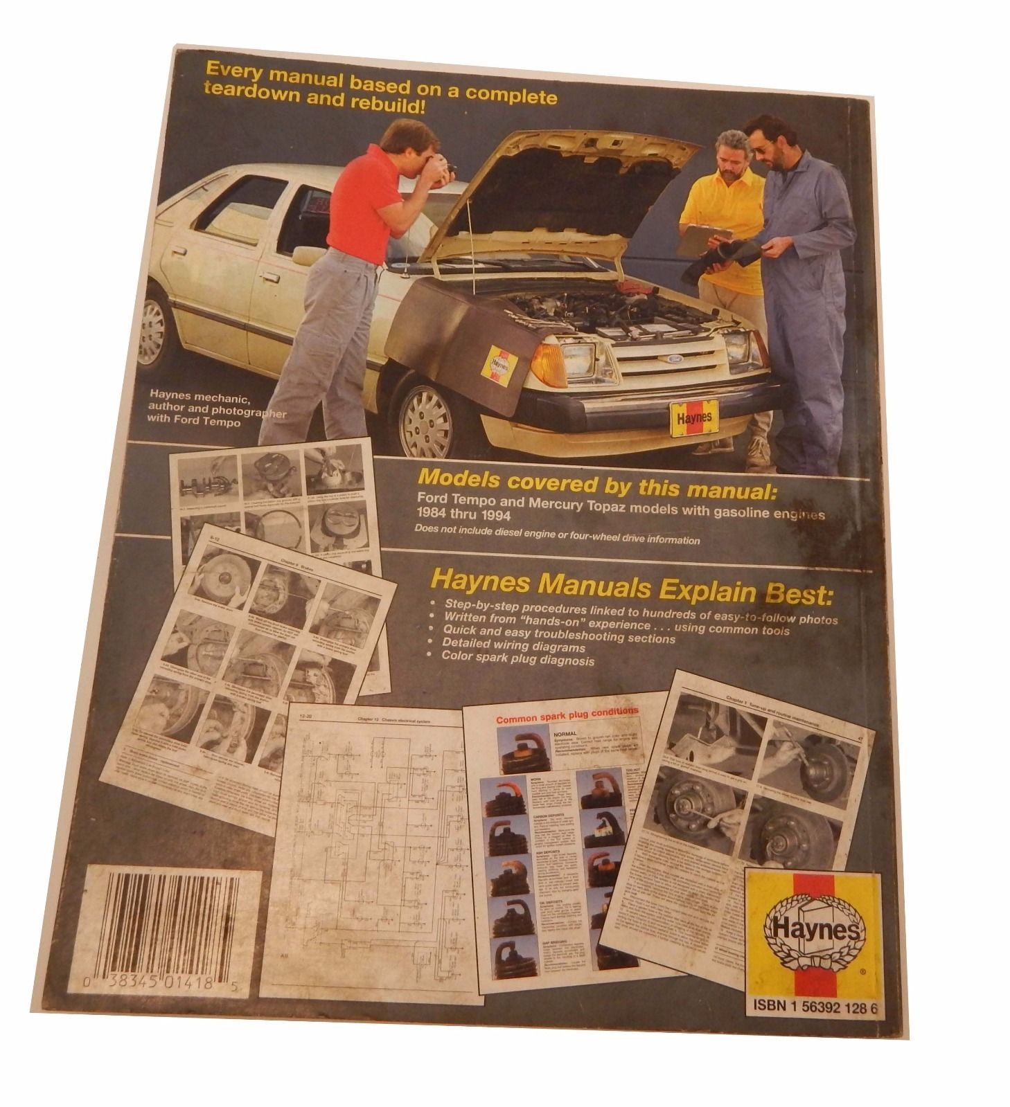 Haynes Repair Manual For 1984 1994 Ford And 13 Similar Items Tempo Wiring Diagram Mercury Topaz