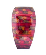 Quay Copper Red Gold Ceramic Foil and Lacquer Modern Vase - $113.80