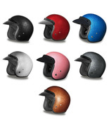 Daytona Metal Flake Open Face 3/4 DOT Motorcycle Motorcike Helmet XS-2XL - $106.15