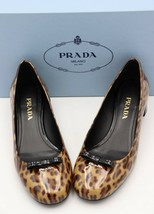 NIB Prada Leopard Brown Black Bow Patent Leather Pumps Heels  8 38   ($570) - $345.00