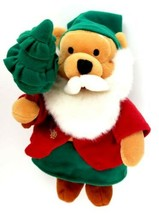 "Disney Store St. Nicholas Austria Santa Winnie the Pooh 8"" Mini Bean Bag... - $12.99"