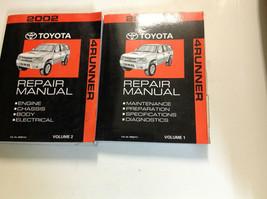 2002 toyota 4 runner 4 service repair workshop road workshop manual set new - $249.32