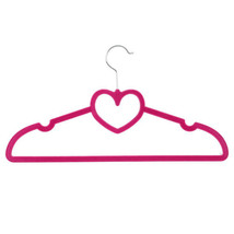 100 X Non-Slip Heart Shape Velvet Clothes Coat Trousers Hangers Ultra Sl... - $47.28