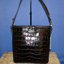 Dooney & Bourke Lani Croco Emb Leather Crossbody Brown T'Moro image 12