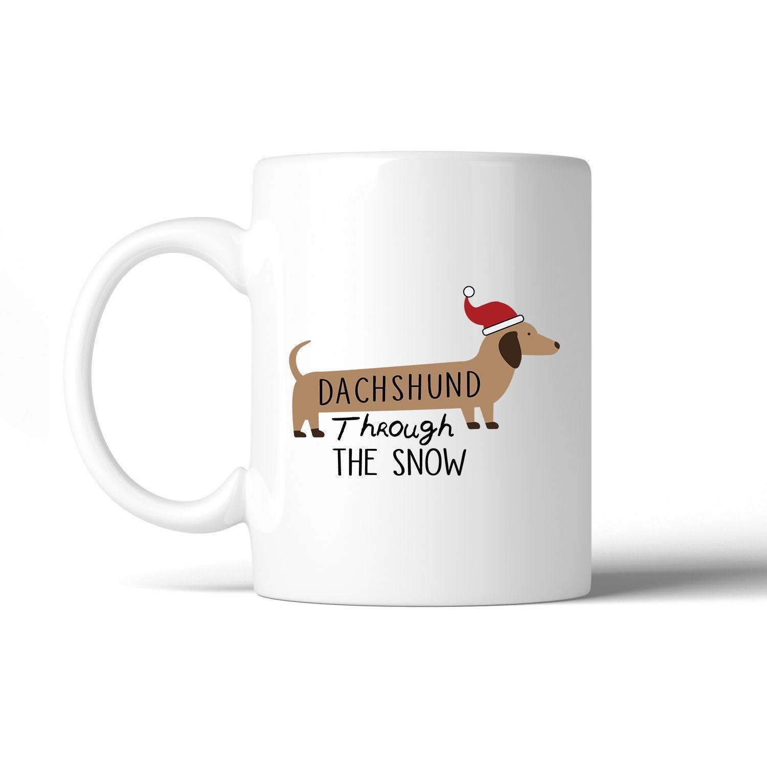 Dachshund Through The Snow White Mug