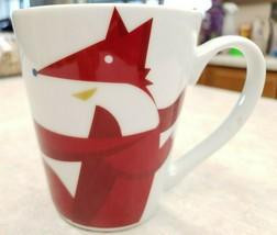 Starbucks Mug  2012 Red Fox Scarf Dove Coffee Tea Mug image 1