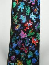 """VTG Designs by A. Rogers """"Frogs"""" Neon Multi Color Men's Silk Necktie Nec... - $24.74"""