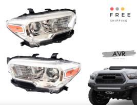 For 2016 2018 Toyota Tacoma Set Left LH Right RH Set Headlights Chrome - $364.64