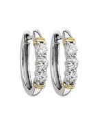 0.30CT/SI2/F GENUINE DIAMONDS SET IN 14K GOLD H... - $400.00