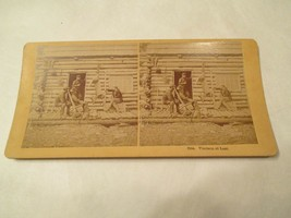 Venison at Last Deer Hunting Stereoview Card - $14.99