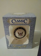 Classic Collection United States Navy Glass Ball Ornament in Box - White - $10.00