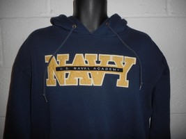 Vintage 90s Jansport US NAVY Hoodie Hooded Sweatshirt Large - $14.99