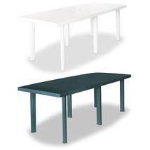 "vidaXL Garden Table 82.7"" Plastic Outdoor Dining Table Patio Table White... - $120.99+"