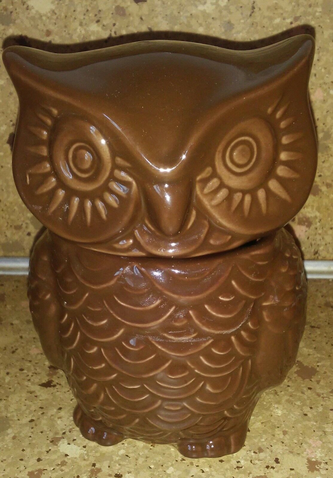 "Brown Owl Sugar Bowl Jar Small 5"" Figurine"