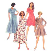 90s Vintage McCalls Sewing Pattern 8583 Misses Fit Flared Dress Jacket 1... - $6.95