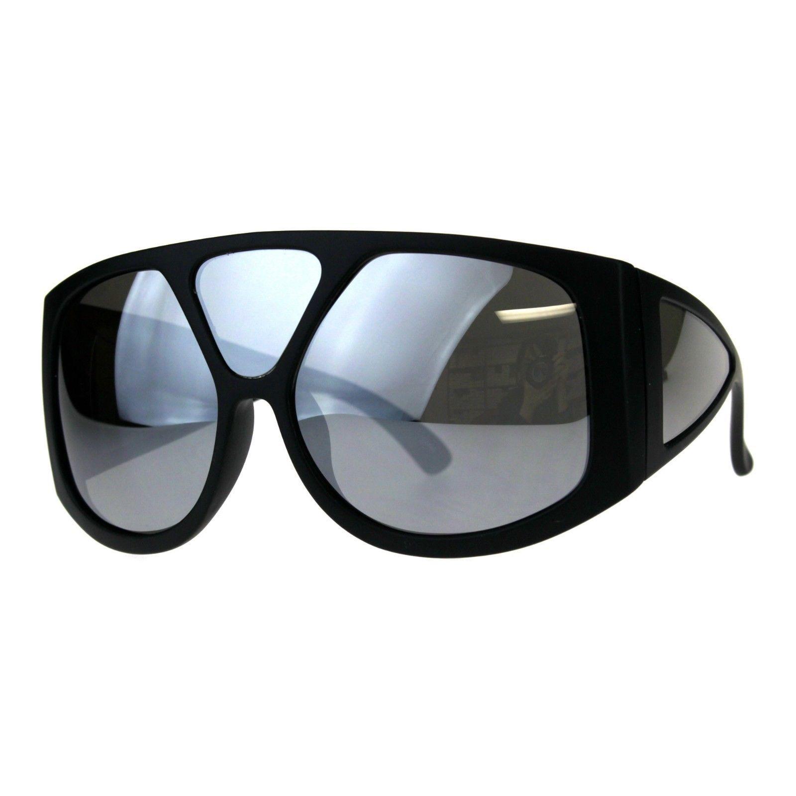 Super Oversized Goggle Sunglasses Multi Mirror Lens Shield Futuristic Shades