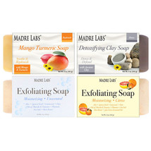 Madre Labs, 4 Cleansing Bar Soaps, Variety Pack, 4 Scents, 5 oz (141 g) ... - $12.00