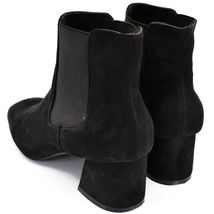 """Boohoo Faux Black Suede 2.3"""" Heel Ankle Boots Booties Size 10 image 3"""