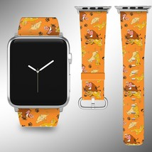 The Lion King Disney Apple Watch Band 38 40 42 44 mm Fabric Leather Strap 01 - $29.97