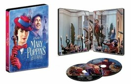 An item in the DVDs & Movies category: Disney Mary Poppins Returns Best Buy Steelbook [4K Ultra HD + Blu-ray)