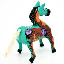"Handmade Alebrijes Oaxacan Wood Carved Painted Folk Art Horse 3.5"" Figurine image 4"