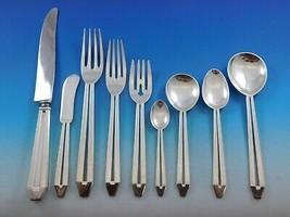Hammered Pierced Randahl Sterling Silver Flatware Set Hand Wrought Chica... - $14,845.05