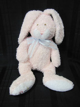 "TY BABY BUNNY HOP PLUSH BEANIE PINK BUNNY LOVE TO BABY 11"" 2005 PLUFFIES - $12.66"