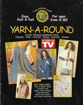 Knit Pattern Booklet-YARN-A-ROUND-Create Afghans-Hats-Scarves-Ponchos-Sh... - $9.46