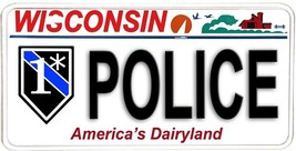 Wisconsin NOVELTY License Plate Law Enforcement - One Ass To Risk Police - $12.82