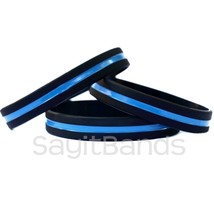 20 Thin Blue Line Wristbands - Police / Law Enforcement Awareness Bracelet Bands - $19.79