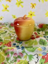 Vintage Hazel Atlas Apple Jam Jar, Hazel Atlas Apple Sugar Bowl - $12.95