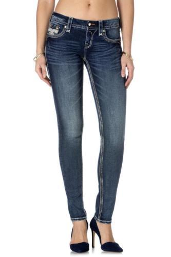 New Rock Revival Womens Jeans Jamey S200 Skinny Cut Jean Dark Denim