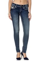 New Rock Revival Womens Jeans Jamey S200 Skinny Cut Jean Dark Denim