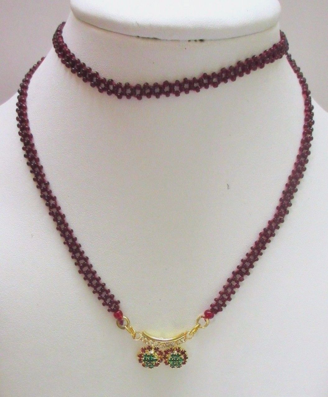 Indian Traditional Bollywood Bridal Red Gold Plated CZ Fashion Jewelry Necklace