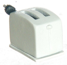 Dollhouse Miniature - White Toaster  - 1/12 Scale - $12.99