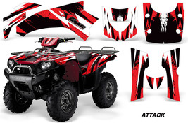 ATV Graphics Kit Quad Decal Wrap For Kawasaki Brute Force 650i 04-12 ATTACK RED - $269.95