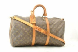 LOUIS VUITTON Monogram Keepall Bandouliere 50 Boston Bag M41416 LV Auth ... - $520.00