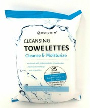 Nu-pore Makeup Remover, Cleansing and Moisturizing Wet 25 Towelettes all... - $6.91