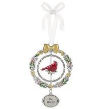 "Be Merry Christmas Cardinal 3D 4 3/8"" Christmas Ornament - $12.99"