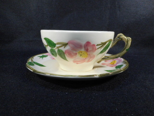 Vintage Franciscan Dessert Rose Cup and Saucer California USA