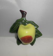 Vintage Green Apple Wall Pocket California Pottery Kitchen Kitsch  - $19.00