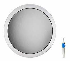 """DBTech Large 10"""" Suction Cup 8X Magnifying Mirror with Precision Tweezers image 1"""