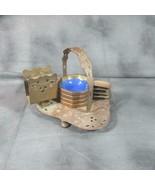 Complete Vintage Farberware Gold Bronze 4 Enamel Ashtrays With Original ... - $64.50