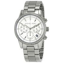 9020bba80807 Michael Kors Womens Ritz Silver Stainless Steel Bracelet MK6428 Ladies Watch  -  175.88