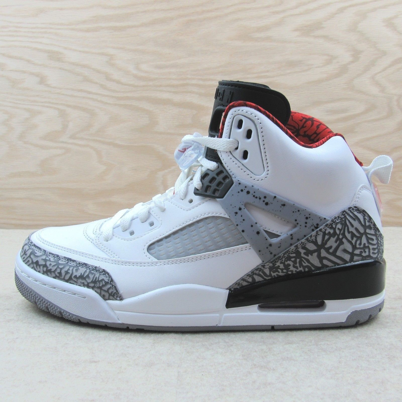 newest d2e46 7ac49 57. 57. Jordan Men s Spizike Size 9 Basketball Shoes 315371-122 White Cement  NEW