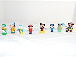 Mini Disney Plastic PVC Figures Cake Toppers Mickey Minnie Goofy Lot of 8 - $19.80