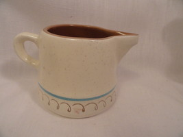 Vintage Stangl Pottery Blue Daisy Milk Pitcher and Creamer Dinnerware MINT - $12.49